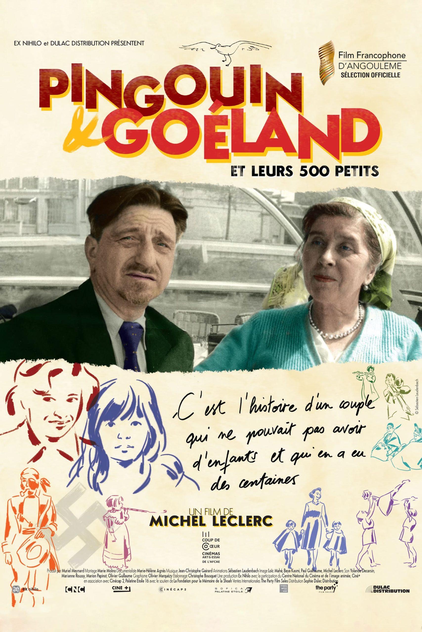 """Affiche du film """"Pingouin & Goéland et leurs 500 petits"""""""